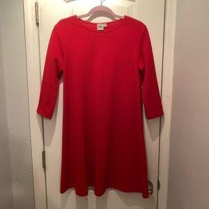ASOS Red Waffle Knit Swing Dress